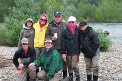 Payne Family Alaska 2012 Fishing Trip (Back row L to R: Ciara, Presley, Vic, Victoria and Jordyn. Front row L to R: Tyler and Angie)